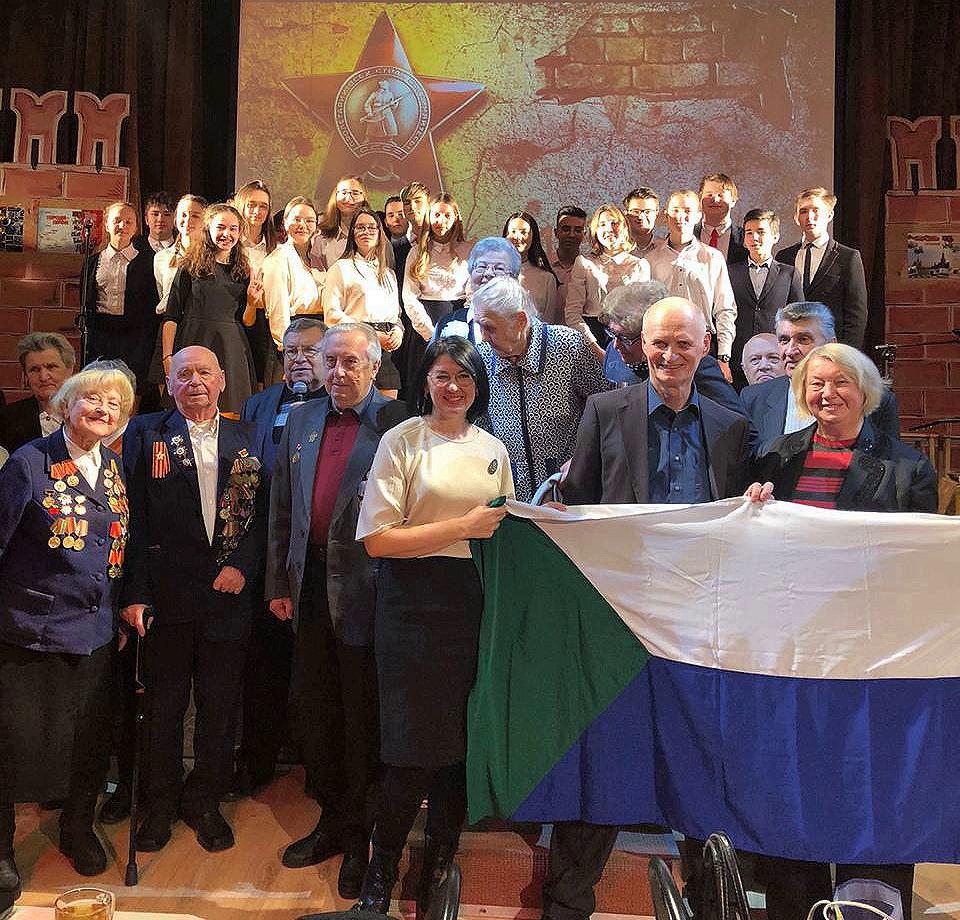 Чествование ветеранов Великой Отечественной войны в школе №1516 Москвы